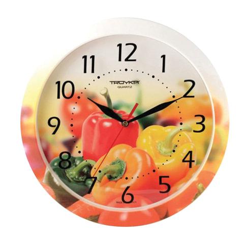 Часы настенные TROYKA 11000022, круг, с рисунком