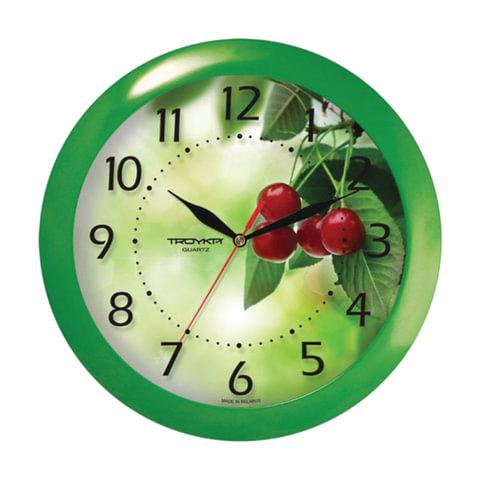 Часы настенные TROYKA 11120162, круг, белые с рисунком
