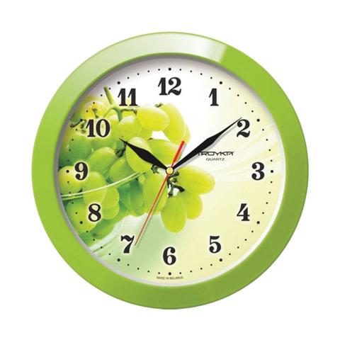 Часы настенные TROYKA 11121161, круг, белые с рисунком