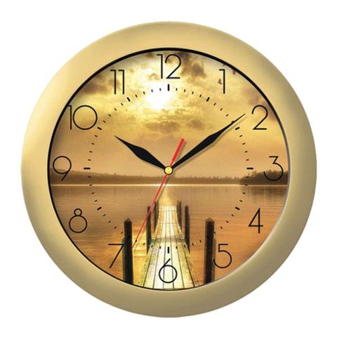 Часы настенные TROYKA 11171146, круг, с рисунком