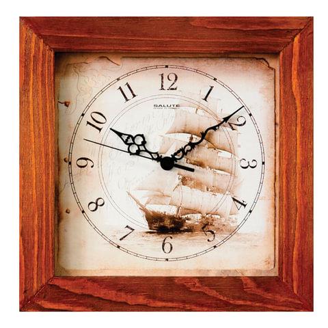 Часы настенные САЛЮТ ДС-2АС28-176, квадрат, с рисунком