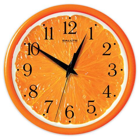 Часы настенные САЛЮТ ПЕ-Б2.1-237, круг, с рисунком