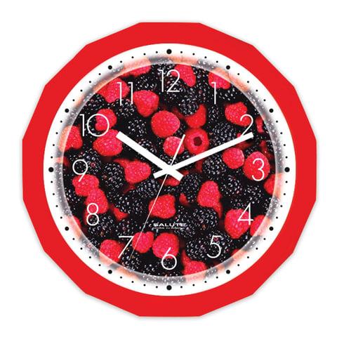 Часы настенные САЛЮТ П-Г1-190, многоугольник, с рисунком