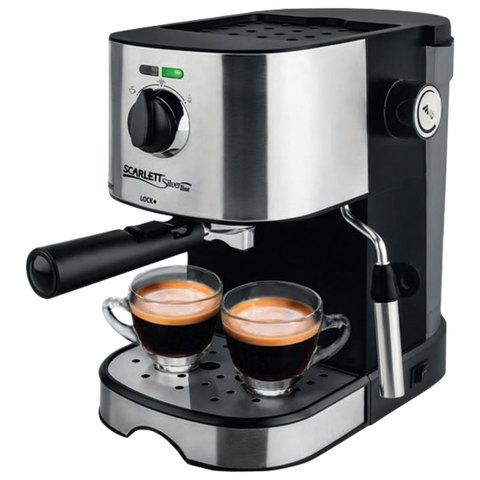 Кофеварка рожковая SCARLETT SL-CM53001, 850 Вт, 15 бар, капучинатор, черная, SL - CM53001