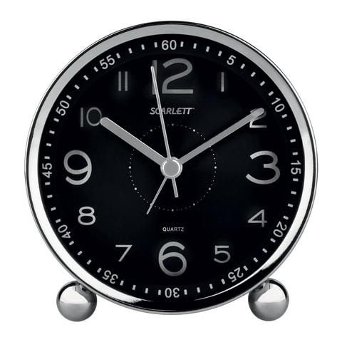 Часы-будильник SCARLETT SC-AC1005B, электронный сигнал, пластик, черные, SC - AC1005B