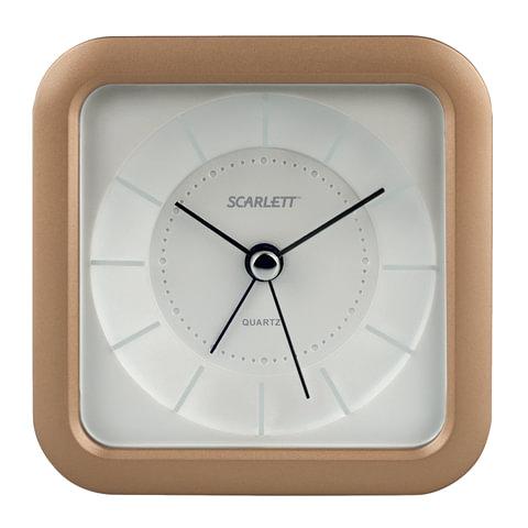 Часы-будильник SCARLETT SC-AC1007S, повтор сигнала, электронный сигнал, пластик, бежевые, SC - AC1007S