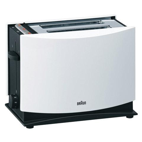 Тостер BRAUN HT400 WH, 1080 Вт, 2 тоста, 7 режимов, разморозка, подогрев, белый, HT400WH