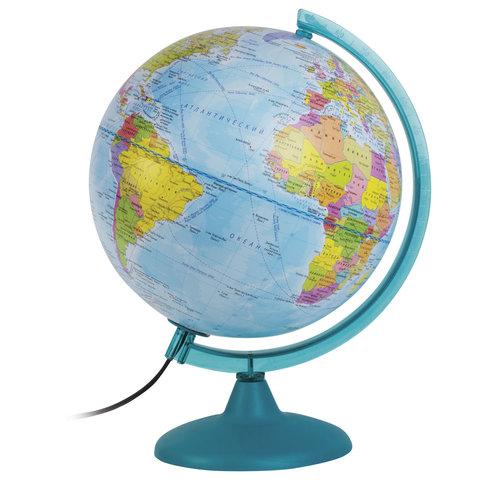 Глобус политический/физический диаметр 250 мм, с подсветкой, 10546