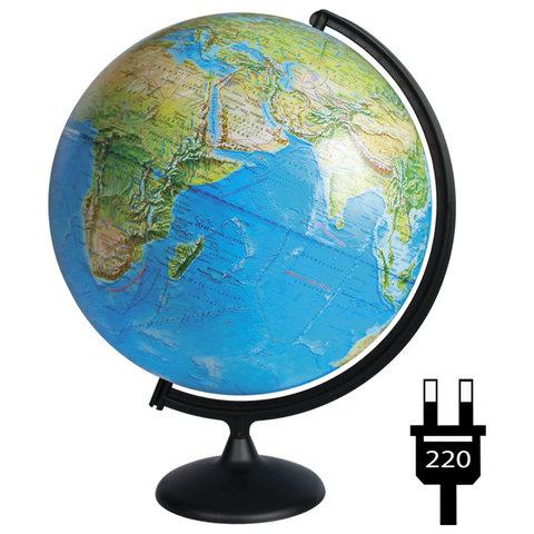 Глобус физический/политический диаметр 420 мм, с подсветкой, 10355