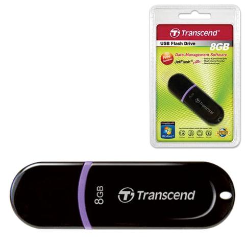 Флэш-диск 8 GB, TRANSCEND JetFlash 300, USB 2.0, черный, TS8GJF300
