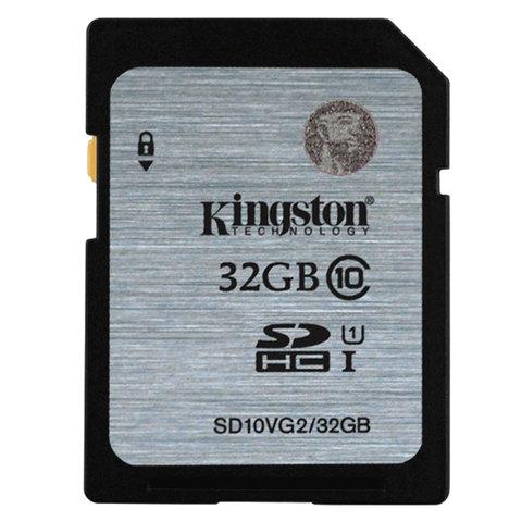 Карта памяти SDHC, 32 GB, KINGSTON, UHS-I U1, 45 Мб/сек. (class 10), SD10VG2/32GB