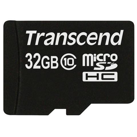 Карта памяти micro SDHC, 32 GB, TRANSCEND Premium 200x, UHS-I U1, 30 Мб/сек. (class 10), TS32GUSDC10