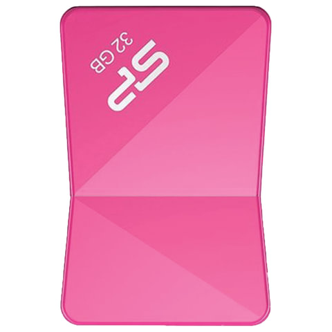 Флэш-диск 32 GB SILICON POWER Touch T08 USB 2.0, розовый, SP32GBUF2T08V1H