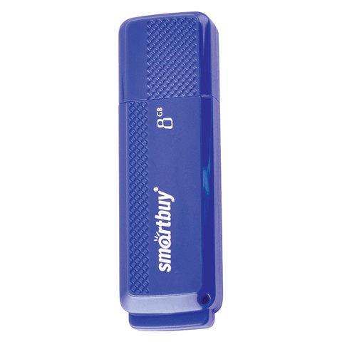 Флеш-диск 8 GB, SMARTBUY Dock, USB 2.0, синий, SB8GBDK-B