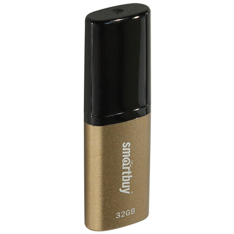 Флэш-диск 32 GB, SMARTBUY X-Cut USB 2.0, металлический корпус, коричневый/черный, SB32GBXC-BR