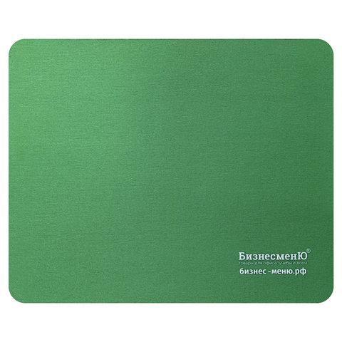 Коврик для мыши БИЗНЕСМЕНЮ, резина+ткань, 220х180х3 мм, 512816