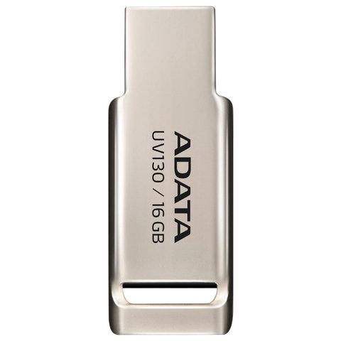 Флэш-диск 16 GB, A-DATA DashDrive UV130, USB 2.0, металлический корпус, золотистый, AUV130-16G-RGD