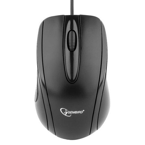 Мышь проводная GEMBIRD MUSOPTI8-800U, USB, 2 кнопки + 1 колесо-кнопка, оптическая, чёрная