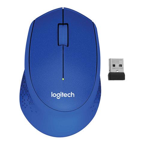 Мышь беспроводная LOGITECH M330, 2 кнопки+1 колесо-кнопка, оптическая, синяя, 910-004910