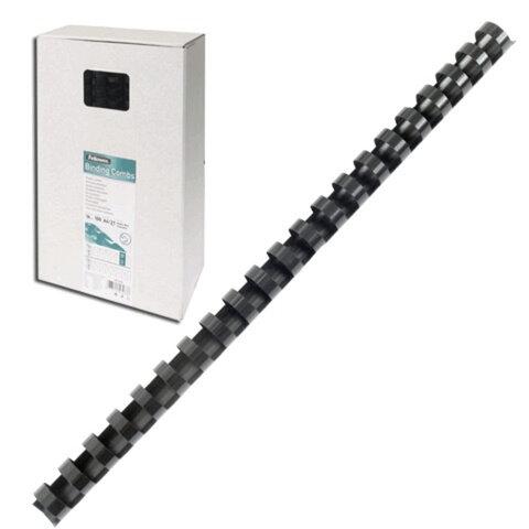 Пружины пластиковые для переплета FELLOWES, комплект 100 шт., 12 мм, для сшивания 56-80 л., черные, FS-53465