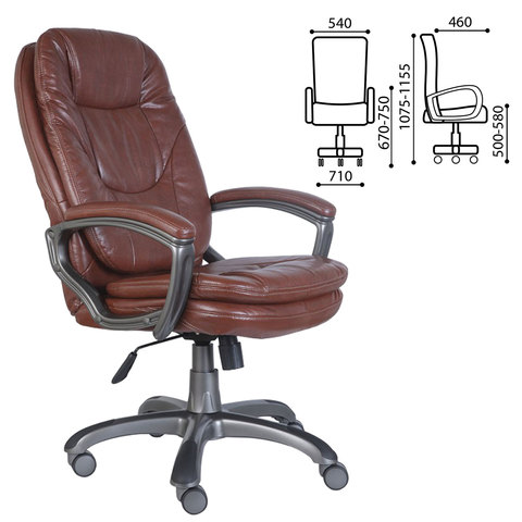 Кресло офисное CH-868AXSN, экокожа, коричневое, CH-868AXSN/Brow
