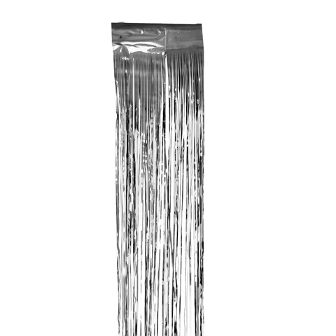 Дождик новогодний, ширина 75 мм, длина 1,5 м, серебристый, Д-303