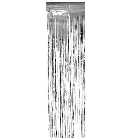 Дождик новогодний, ширина 75 мм, длина 2 м, серебристый, Д-314