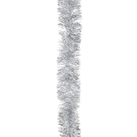 Мишура 1 штука, диаметр 50 мм, длина 2 м, серебро, 4-180-5