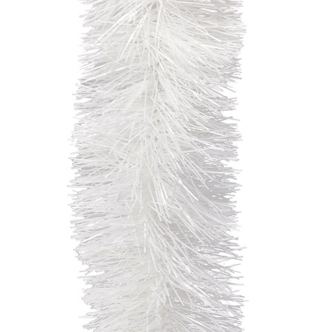 Мишура 1 штука, диаметр 70 мм, длина 2 м, белая, 5-180-7