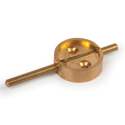 Опечатывающее устройство со штоком, диаметр 27 мм, длина штока 7 см, латунь