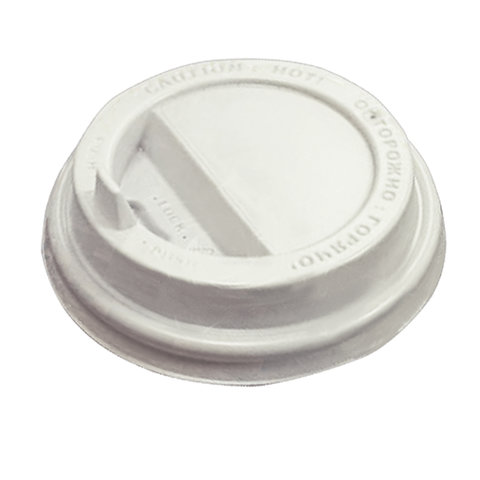 Одноразовая крышка для стакана (d-80), КОМПЛЕКТ 100 шт., откидной клапан-носик, ПС, ПРОТЭК, ПР-TSL-80