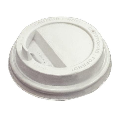 Одноразовая крышка для стакана (d-90), КОМПЛЕКТ 100 шт., откидной клапан-носик, ПС, ПРОТЭК, ПР-TSL-90