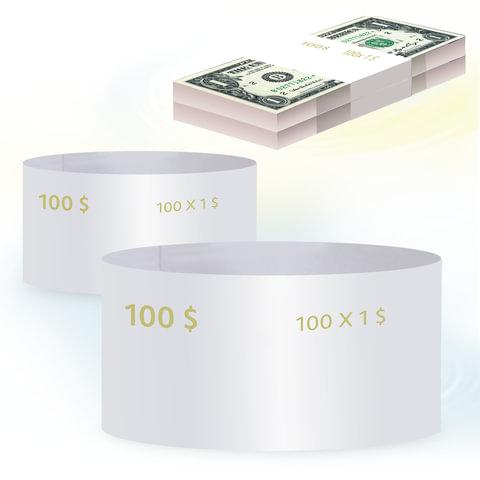 Бандероли кольцевые, комплект 500 шт., номинал 1 доллар