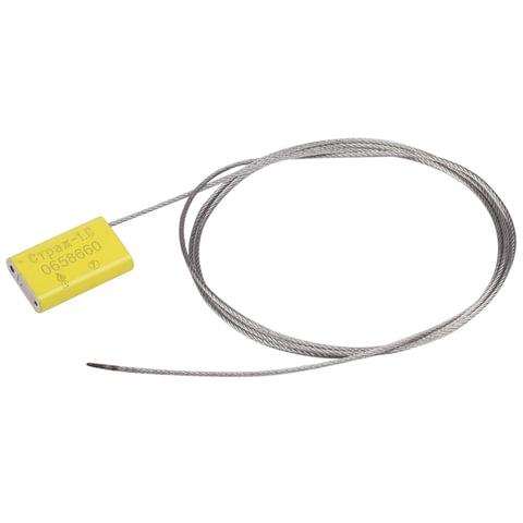 Пломбы металлические тросовые СТРАЖ-1.С, диаметр 1,5 мм, длина 1000 мм, КОМПЛЕКТ 10 шт.