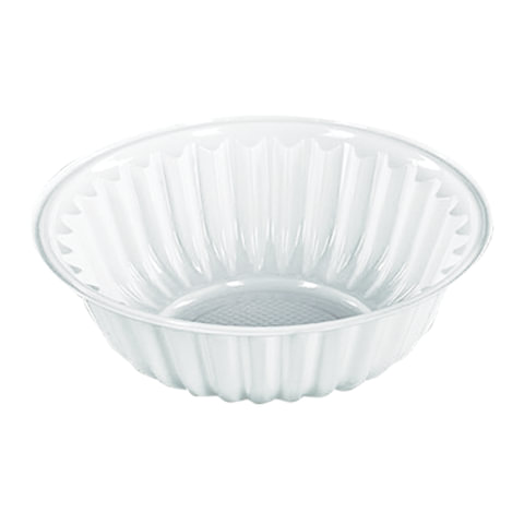 Одноразовая тарелка-креманка, 150 мл, 1 шт., ПЭТ, белая, для холодных/горячих блюд, СТИРОЛПЛАСТ, Т-Д-107-35