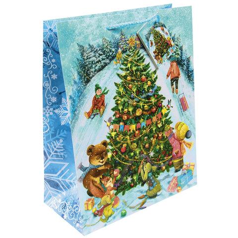 Пакет подарочный ламинированный, 17,8х22,9х9,8 см,