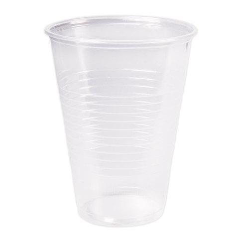 Одноразовые стаканы 200 мл, КОМПЛЕКТ 100 шт., пластиковые, прозрачные, ПП, холодное/горячее, СТИРОЛПЛАСТ
