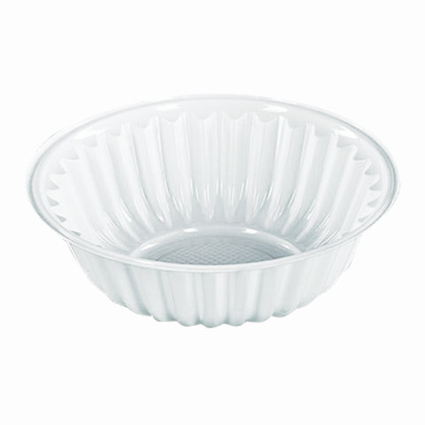 Одноразовые тарелки-креманки, КОМПЛЕКТ 100 шт., пластик, 150.мл, белые, ПЭТ, холодное/горячее, СТИРОЛПЛАСТ