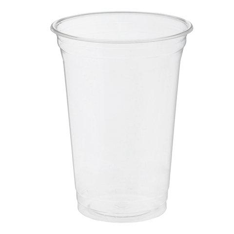 Одноразовые стаканы 400 мл, КОМПЛЕКТ 50 шт, прозрачные,