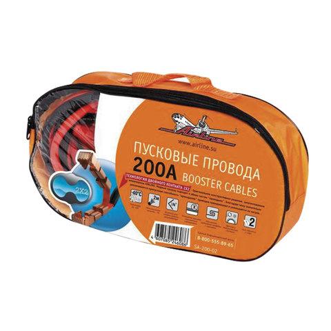 Провода для прикуривания аккумулятора, 200 А, 2 м, 12 В, сумка, AIRLINE, SA-200-02